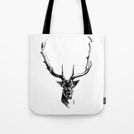 Interaction with deer Tote Bag