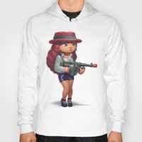 redhead Hoodies featuring Redhead mobster by Andrei Nicolae