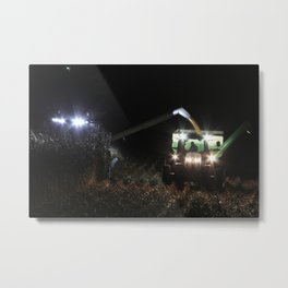 Night Harvest in the Heartland Metal Print