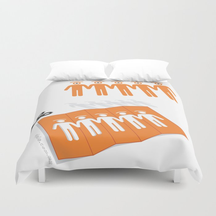 chain of glances Duvet Cover