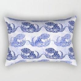 Mythic Octopus - Indigo Rectangular Pillow