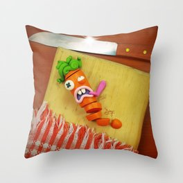 The murder of the carrot Throw Pillow