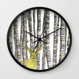The Golden Stag Wall Clock