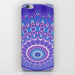 Indian Patterns Mandala Ball - Blue Pink White iPhone Skin