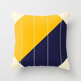 Yellow Blue Chamber Throw Pillow