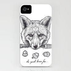 Quick Brown Fox Slim Case iPhone (4, 4s)