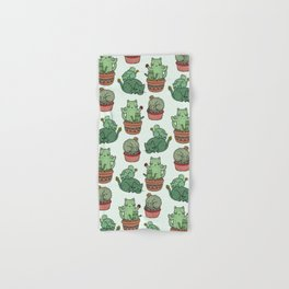 Cacti Cat pattern Hand & Bath Towel