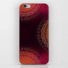 """Scarlet & Gold Mandala Deluxe"" iPhone Skin"