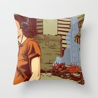 portland Throw Pillows featuring Locals Only - Portland, OR by Joshua Kemble