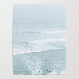 Tiny Surfers from the Sky, Lima, Peru Poster