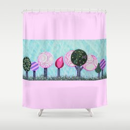 Pink grove Shower Curtain