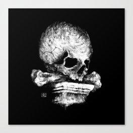 Skull on Pedestal Canvas Print