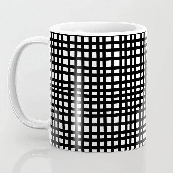 Black and White Gingham Coffee Mug