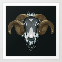 ram Art Prints featuring Ram by Compassion Collective