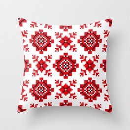 Slavonic national ornament Throw Pillow
