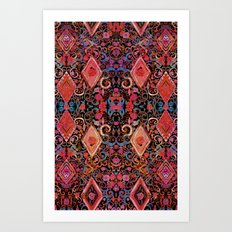 Tie dye tapestry  Art Print