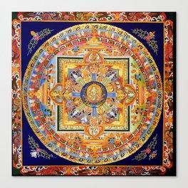 Buddhist Mandala 49 Green Tara Canvas Print