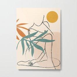 Minimal Line in Nature II Metal Print