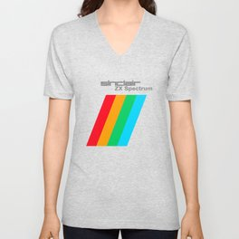 Printed items of the ZX Spectrum from SinClair computer company Unisex V-Neck