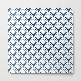Abstract colorful geometric pattern .Blue and white . Metal Print