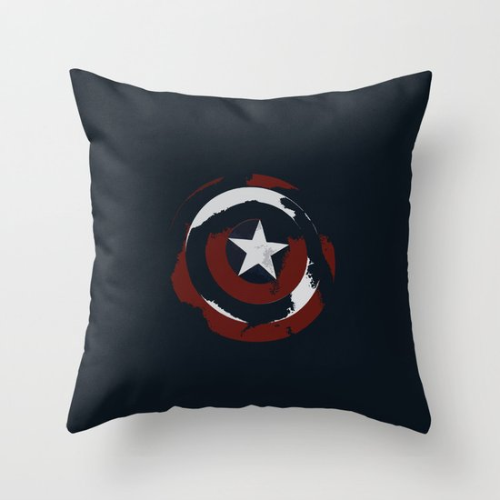 Cap's Shield Throw Pillow