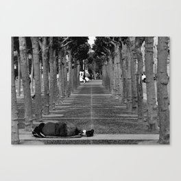 Alone - Homeless in San Francisco Canvas Print