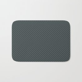 PPG Night Watch Pewter Green Small Scallop, Wave Pattern Bath Mat