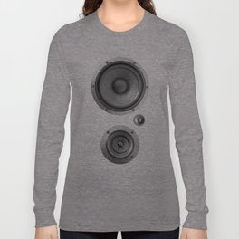 Subwoofer Speaker on white Long Sleeve T-shirt