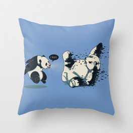 Panda Flu Throw Pillow