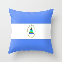 flag of nicaragua - Nicaraguans,Nicaragüense,Managua,Matagalpa,latine. Throw Pillow