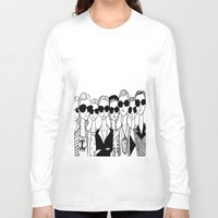 vogue Long Sleeve T-shirts featuring Vogue by Rosalia Mendoza