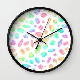 Rainbow Crystal Pattern Wall Clock