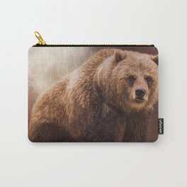 Great Strength - Grizzly Bear Art by Jordan Blackstone Carry-All Pouch