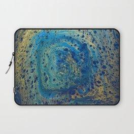 Blue and Gold Spiral Art Laptop Sleeve