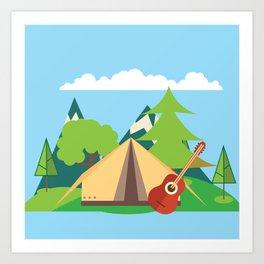 camping , outdoors , nursery decor , children gift, birthday gift Art Print