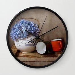 Vintage tea kettle Wall Clock