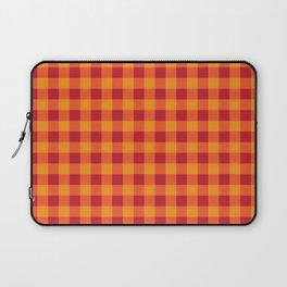 Red Orange Gingham  Laptop Sleeve