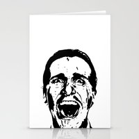 american psycho Stationery Cards featuring American Psycho by ginaxcuzzilla