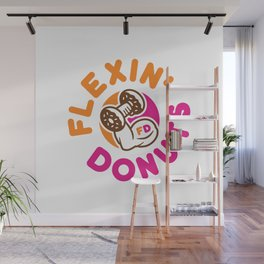 Flexin Donuts Wall Mural