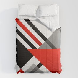 Sophisticated Ambiance - Silver & Passion Red Comforters