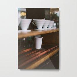 Coffee at Broadway Market Metal Print