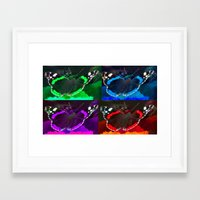 psychadelic Framed Art Prints featuring PSYCHADELIC BUTTERFLIES by CAPTURING THE MOMENT
