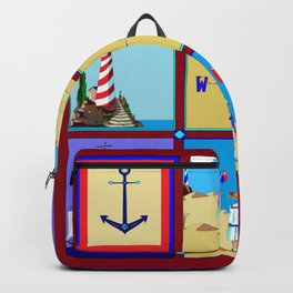 Another Nautical Quilt but with Compass Rose Backpack