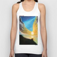 angel wings Tank Tops featuring WINGS OF AN ANGEL by KEVIN CURTIS BARR'S ART OF FAMOUS FACES