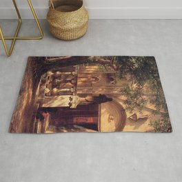 Sunlight And Shadow 1862 By Albert Bierstadt | Reproduction Painting Rug