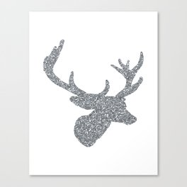 Silver Deer Canvas Print