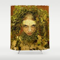 pagan Shower Curtains featuring Pagan by Charlie Terrell