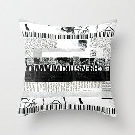 b&w stripes Throw Pillow