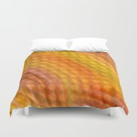 orange pattern Duvet Covers featuring Pattern orange by Christine baessler
