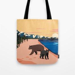 Beach Bears Lake Tahoe Tote Bag